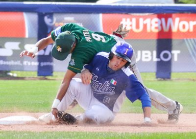 15_20170907 U-18 Baseball World Cup Flisi Italy Patel South Africa (James Mirabelli-WBSC)