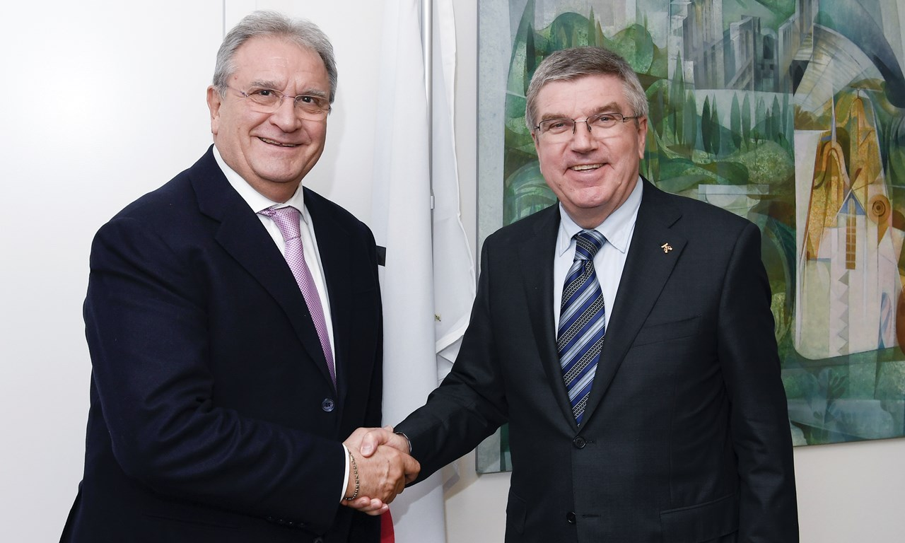 IOC, WBSC presidents meet to discuss baseball/softball global development, Olympic Games
