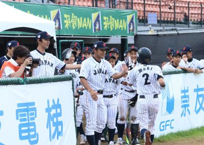 20170801 U-12 Baseball World Cup Japan celebrates one run