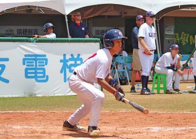 20170805 U-12 Baseball World Cup Caranto USA bunts against Mexico