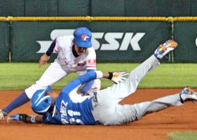 20170805 U-12 Baseball World Cup Chao Chia Cheng Chinese Taipei tags Tito Martinez Nicaragua for the out