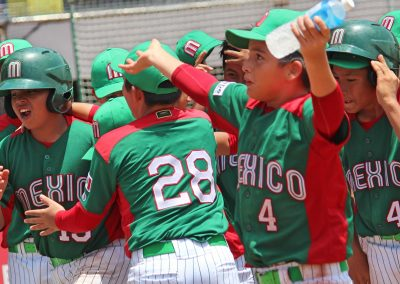 20170805 U12 Baseball World Cup Mexico celebrates home run vs USA