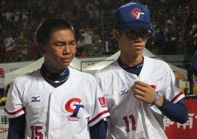 20170806 U-12 Baseball World Cup Han Shuo Heng (15) Lui Wei I (11) Chinesi Taipei after final