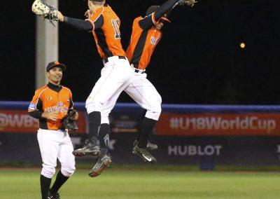20170909 U-18 Baseball World Cup Dutch win dance vs Italy (James Mirabelli-WBSC)