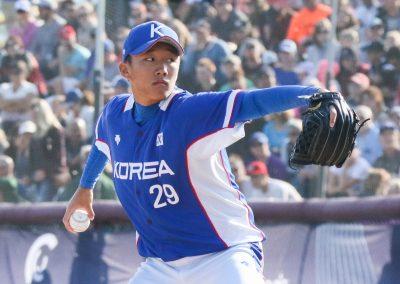 6_20170910 U-18 Baseball World Cup gold medal game Kim Young Jun Korea (James Mirabelli-WBSC)