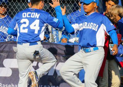 20180909 U-18 Baseball World Cup Ocon Nicaragua celebrates (James Mirabelli-WBSC)