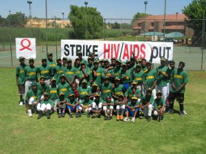 """Strike AIDS Out"" Event in South Africa with 300 Kids playing Baseball"
