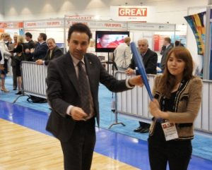 Baseball enjoyed attention at the SportAccord demo zone