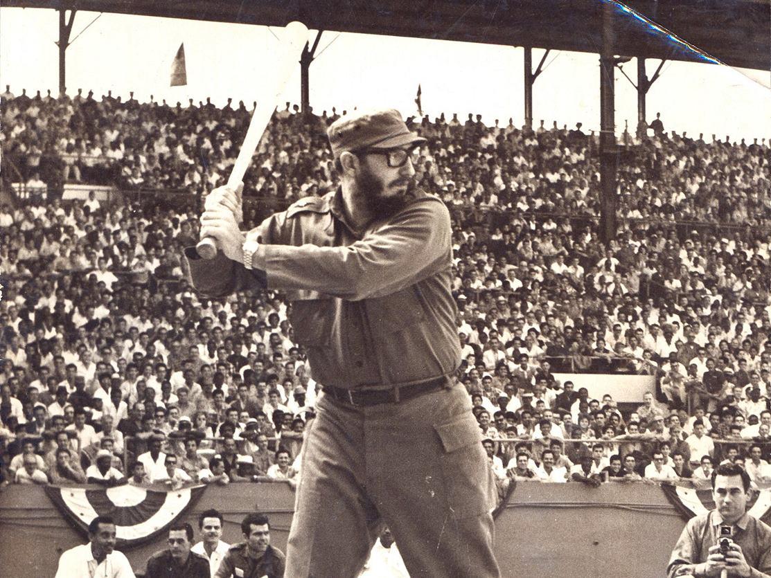 Fidel Castro at-bat