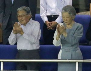 Historical Visit by Japan's Emperor, Empress to Intercity Baseball Tournament  in Tokyo