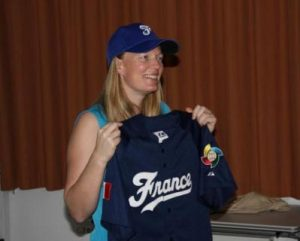 Justine Siegal visits France and Italy to talk about Women's Baseball