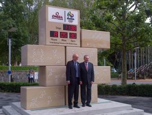 Lausanne dedicated a statue countdown clock to JacquesRogge