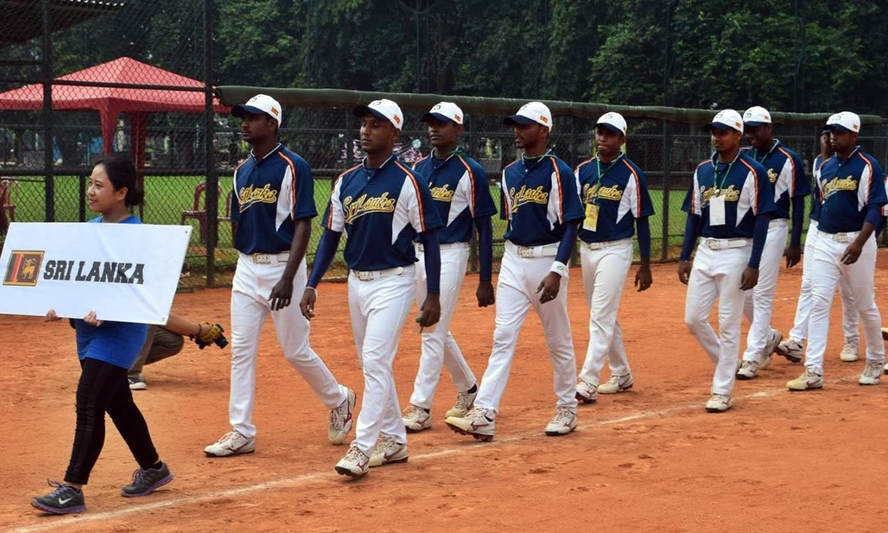 Sri Lanka National Baseball Team at Opening Ceremony of East Asia Cup 2015