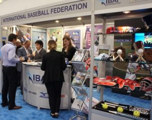 The IBAF booth opened at the SportAccord exhibition