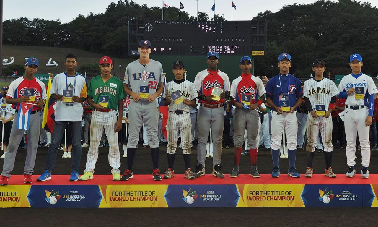 Seven nations represented on U-15 All-World Team 2016