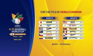 WBSCが福島県いわき市で開催予定の U-15ベースボールワールドカップ2016  対戦グループ、公式ブランディングを発表