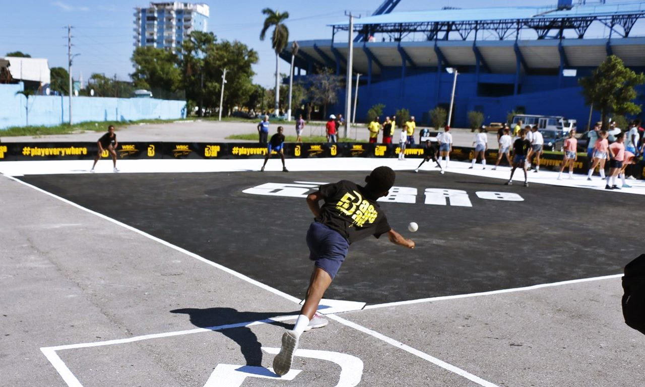 Play Everywhere: New 'Baseball5' urban game launches in streets of Havana