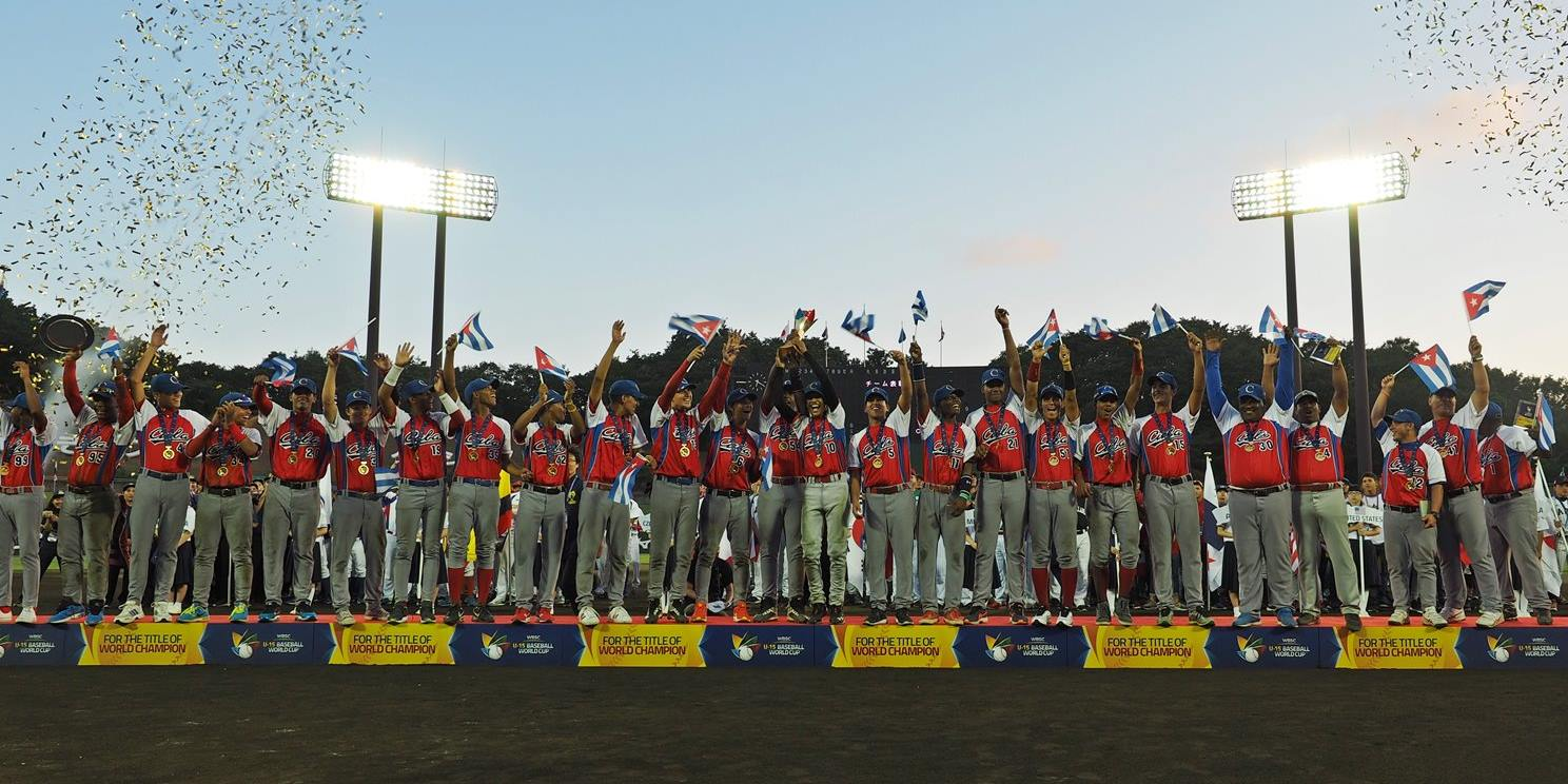 Cuba defiende el título mundial, derrota a Japón en la Final de la Copa Mundial de Béisbol WBSC Sub-15 2016