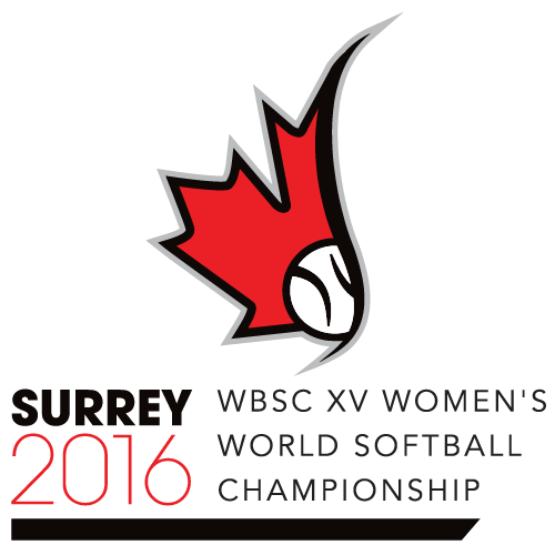 XV Women's Softball World Championship Logo