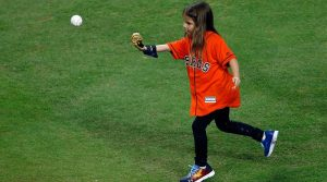 Hailey's dream comes true at the World Series in Houston